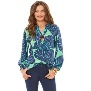 Lilly Pulitzer RARE Under The Palms Elsa Blouse